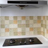 Diy auto stick impermeabile bagno mosaico wall sticker 50x50 cm prova di olio da cucina di ceramica adesivi casa decortaion