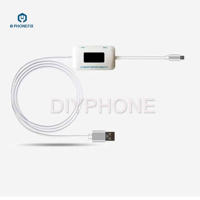 PHONEFIX JC C1 câble de réparation batterie chargeur carte dactivation ligne dalimentation boîte de réparation intelligente pour iPhone 6 6S 6SP 7 7P 8 8P