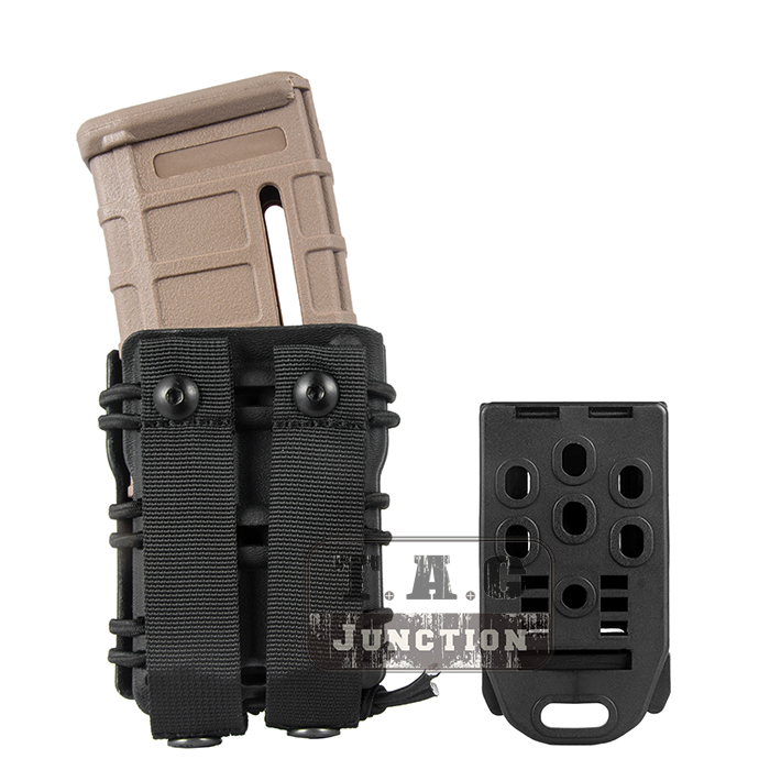 Image 2 - Emerson Tactical MOLLE and Belt Clip M4 M16 / AR15 556 5.56 .223 Mag Pouch Emersongear Magazine Carrier Holder-in Holsters from Sports & Entertainment