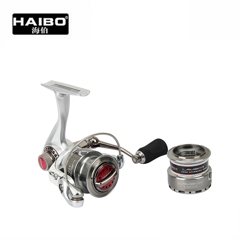HAIbo LAMBOR1000S/2000S 8Ball Bearing Drag 6.5KG Double Spools High-strength Material Spinning Fishing Reel Rock Reels