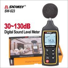 SNDWAY Mini Medidor de Nível de Som Digital Noise Descrever 30-130dBA 1.5 DB Precisão do Medidor LCD Medidor de Nível de Som Tester SW-523
