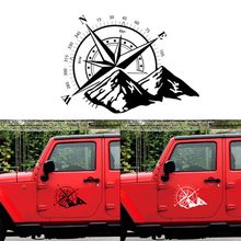 Universal Car sticker compass totem White Hood Compass Decal Auto Vinyl Bonnet Sticker 48x34cm
