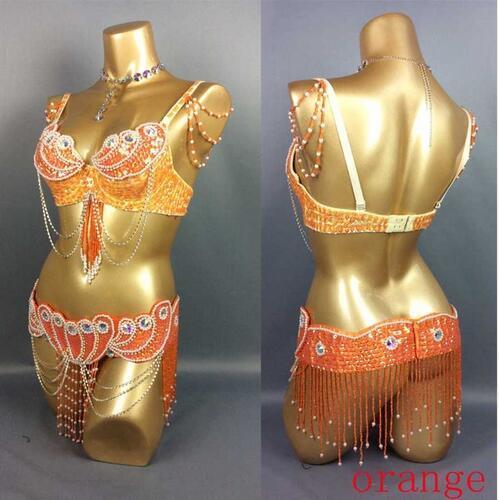 Women belly dance costume bellydance Bra+belt 2piece/ set any size,34/36/38/40/42 B/C/D/DD  TF2152