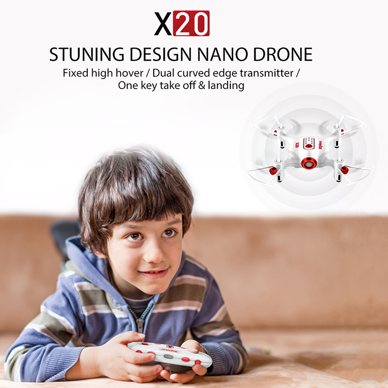 Image 3 - Original Syma X20 2.4G 4CH Gyro Pocket Drone  Quacopter With Headless Mode Altitude Hold 3D flip RC Aircraft Children Toys Gift-in RC Helicopters from Toys & Hobbies