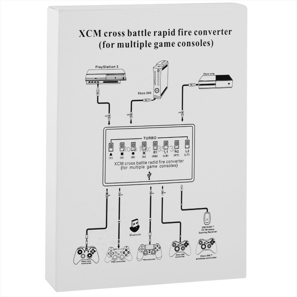 Xcm Cross Battle Rapid Fire Converter For Ps3 Xbox 360 External Wiring Diagram One Ps4 Controller Hori In Replacement Parts Accessories From Consumer