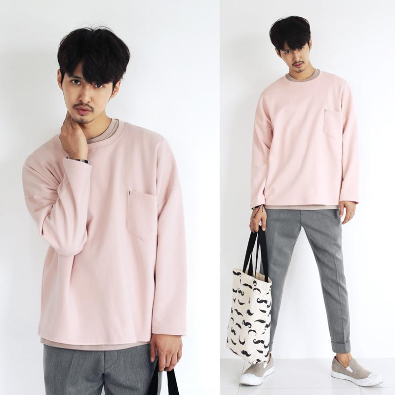 Aliexpress.com : Buy Hip hop sweatshirt men crewneck solid pink ...