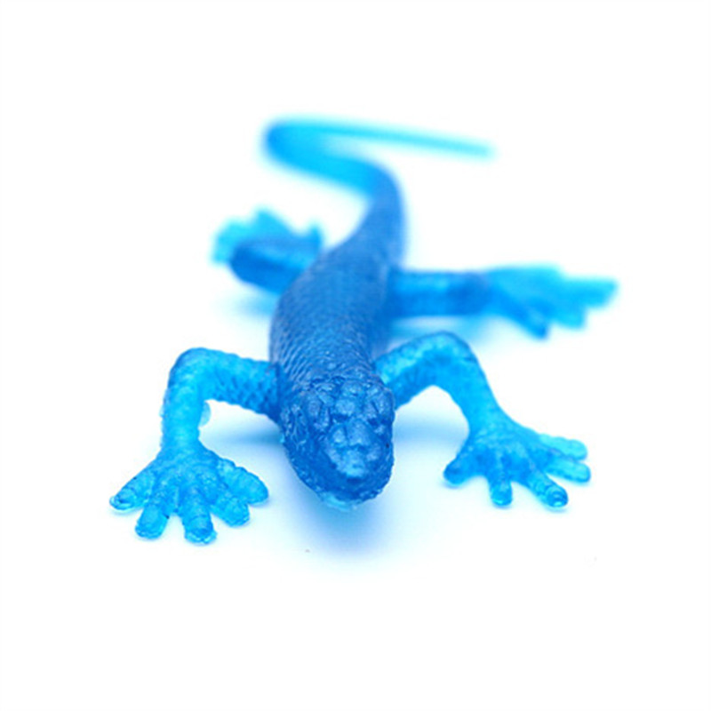 Funny Novelty Items Anti Stress TPR Soft Animal Squishy Models Lizard Gecko Prank Supplies Jake Sticky Toy Gag Kids Educational