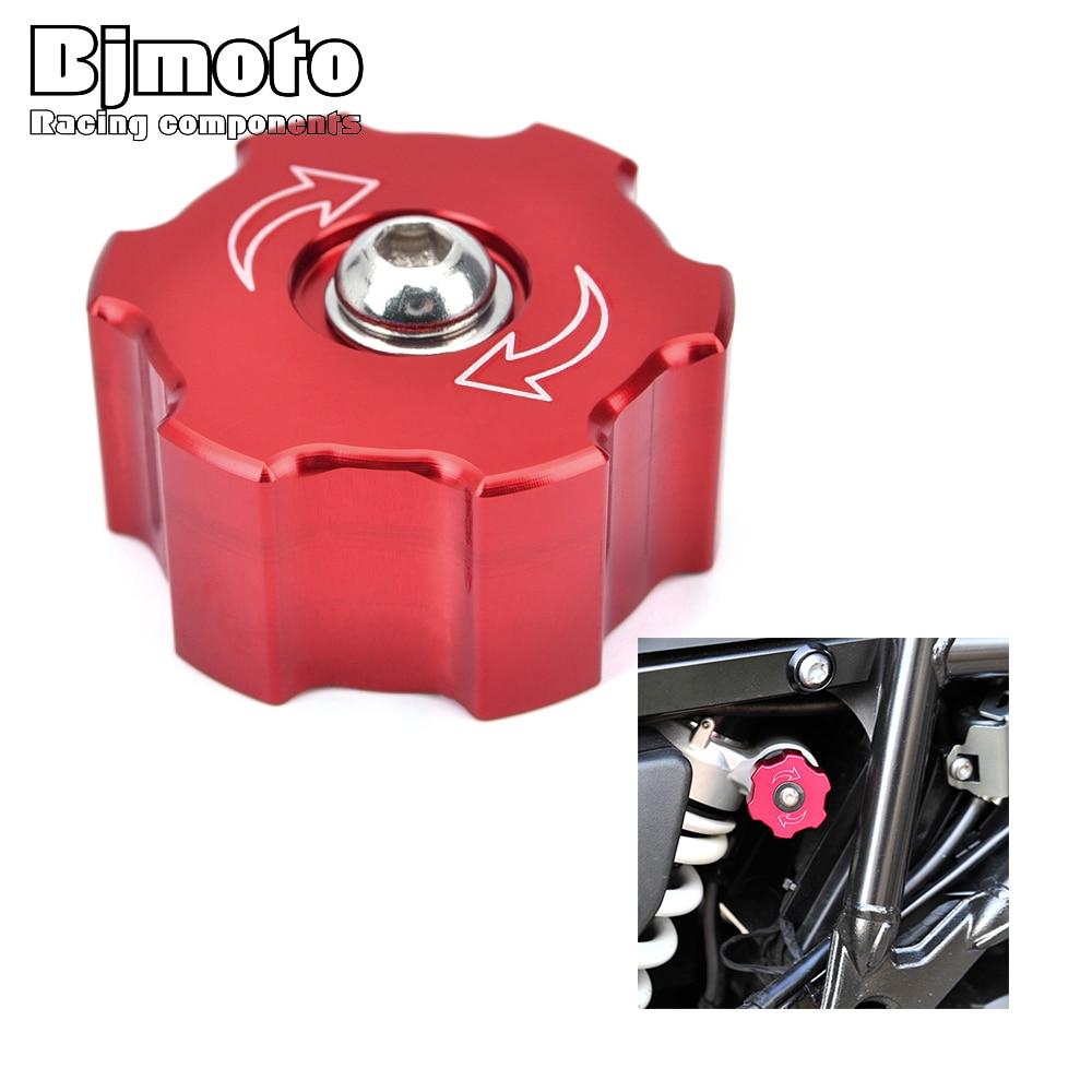 BJMOTO CNC de Alumínio Da Motocicleta Parafuso Parafuso de Ajuste da Suspensão Traseira Para BMW F800R F800GT 13-18 F800GS Aventura 08- 17 F700GS