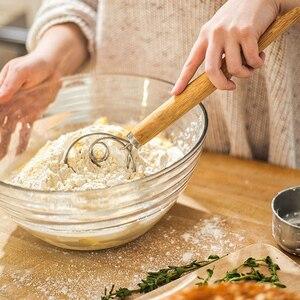 WALFOS Stainless Steel Danish Dough Whisk Blender Cake Bread Pastry Dough Mixer Stick Egg Beater Tools Baking Pastry Blender
