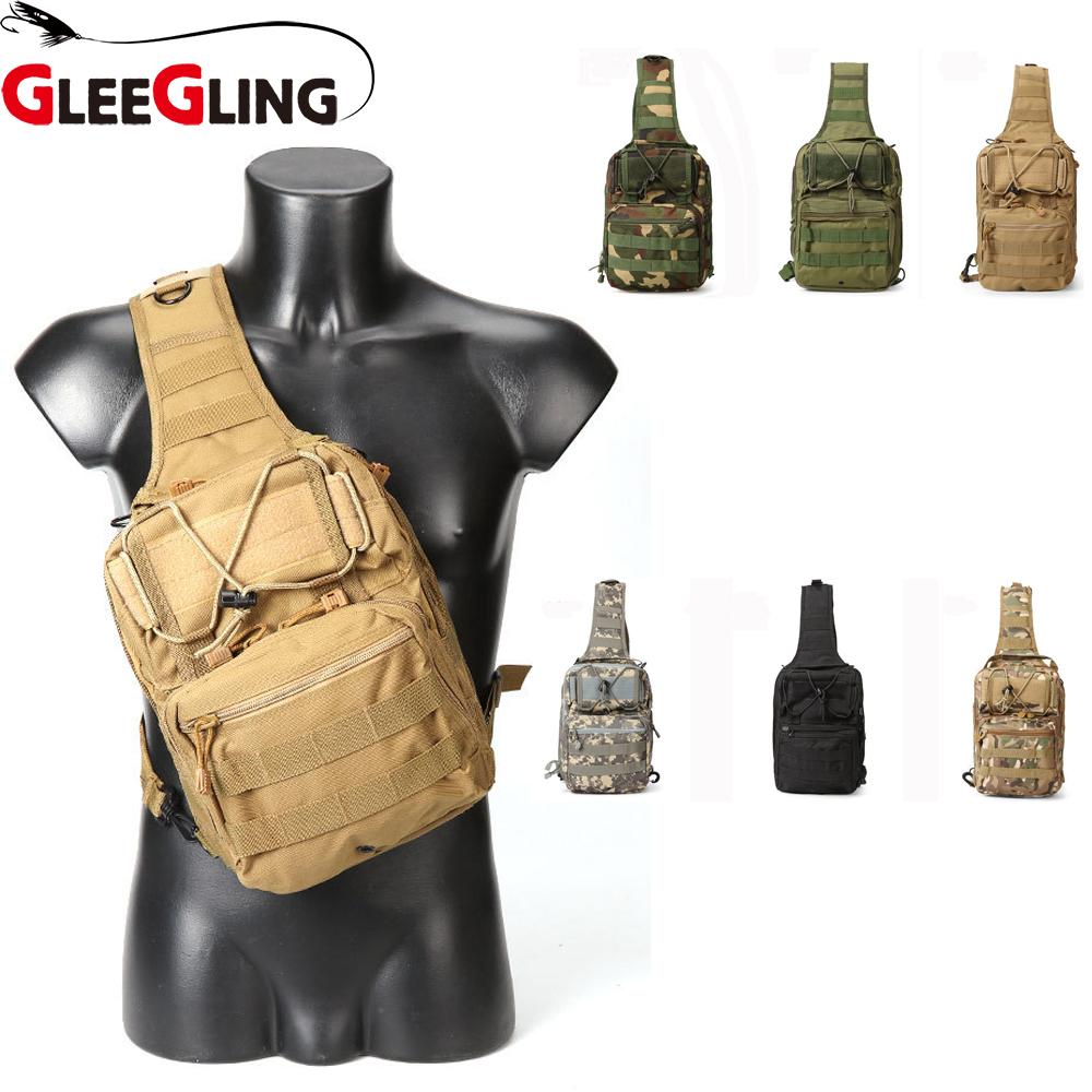 Fishing Reel Cover Outdoor Tactical Chest Bag Multi functional Sports Riding Fishing Lightweight One shoulder Slung
