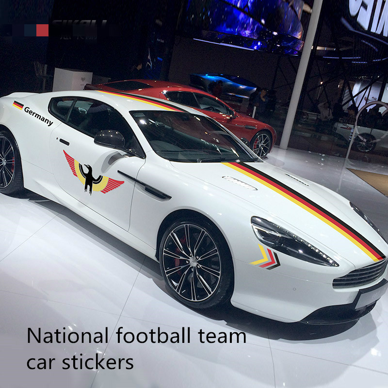Car sticker European Cup US National Football Team Germany Italy France Brazil Argentina England Spain Sticker