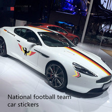 Car sticker European Cup US National Football Team Germany Italy France Brazil Argentina England Spain Sticker