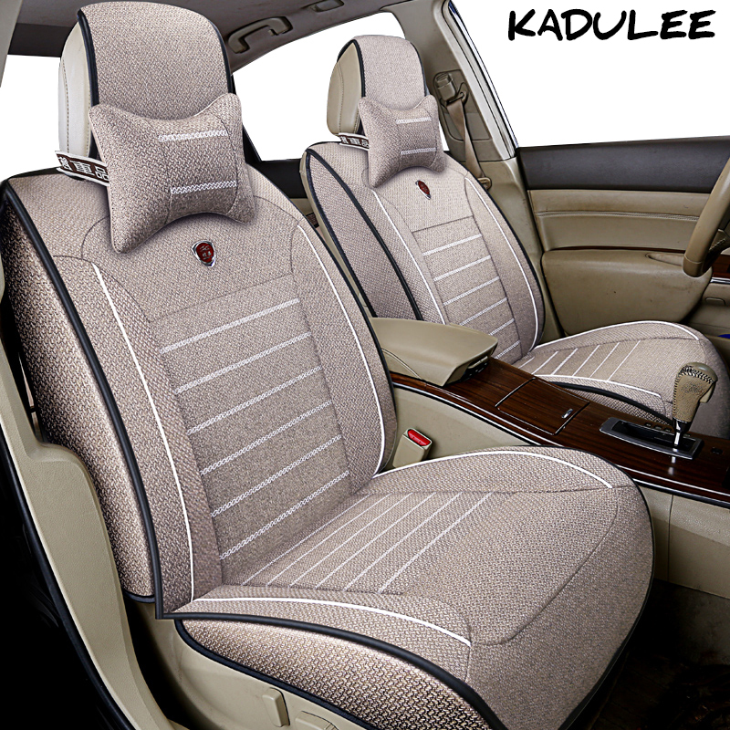 KADULEE flax car seat cover for golf 4 volkswagen vw golf 5 6 7 golf mk2 mk3 Auto accessories car-styling car seat protector car seat cover car seat covers for volkswagen vw bora golf 3 4 5 6 7 gti golf r mk golf7 tiguan 2009 2008 2007 2006