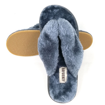 FAYUEKEY 2020 New Fashion Spring Summer Winter Home Cotton Plush Slippers Women Floor Flip Flops Zapatos De Mujer Flat Shoes 4