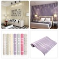 2pcs Fashion 10M Home Improvement High-End Luxury 3D Wave Flocking Wallpaper Rolls For Home Decor