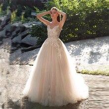 Verngo Ball Gown Wedding Dress Ivory Tulle Gowns Elegant Bride Vestido De Novia Boho