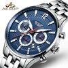 AESOP Fashion Business Men Watch Men Brand Automatic Mechanical Wrist Stainless Steel Wristwatch Male Clock Relogio