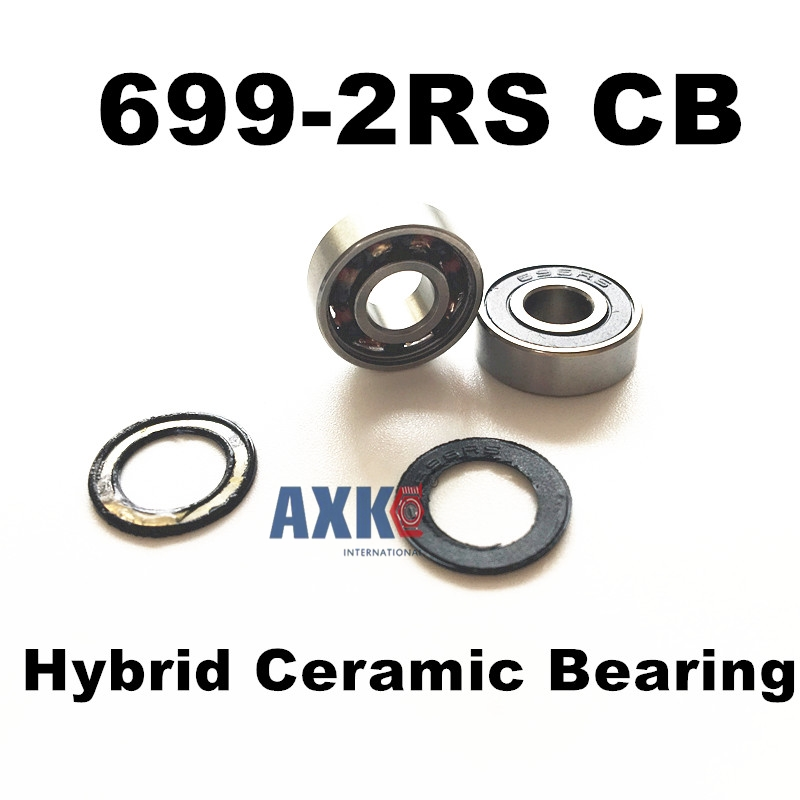 Free shipping 699-2RS CB 699 hybrid ceramic deep groove ball bearing 9x20x6mm free shipping 6806 full si3n4 p5 abec5 ceramic deep groove ball bearing 30x42x7mm 61806 full complement