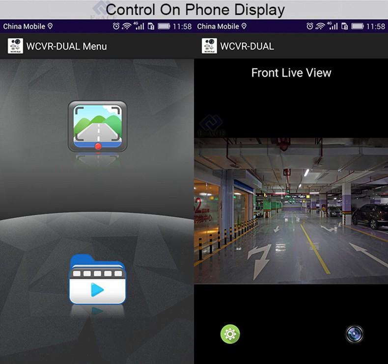 E-ACE Car Dvr WIFI DVRs Dual Camera Lens Registrator Dashcam Digital Video Recorder Camcorder Full HD 1080P 30FPS Night Version 16