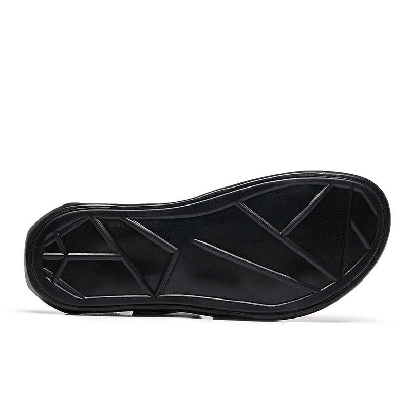 Sapatos Duráveis Couro Moda Homens Adultos Confortável Chinelos 1182 Genuíno Macio Casual Sandálias Verão E Novos De Respirável Homem Flats qaxwInz77