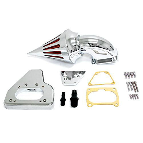 High Quality Chrome Billet Aluminum Spike Air Cleaner Kit Intake Filter for 2002-2009 Honda VTX 1800 R/S/C/N/F cnspeed air intake pipe kit for ford mustang 1989 1993 5 0l v8 cold air intake induction kits with 3 5 air filter yc100689