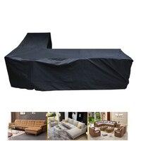210D Водонепроницаемый L Форма большой размер XL для дома и улицы для диванов 3 м x 3 м ротанга садовая мебель для патио защитная крышка пылезащит...