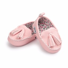 Baby Casual Shoes  fringe kids cute shoes  pu leather spring autumn soft sole girls shoes slip-on  boat shoes girls