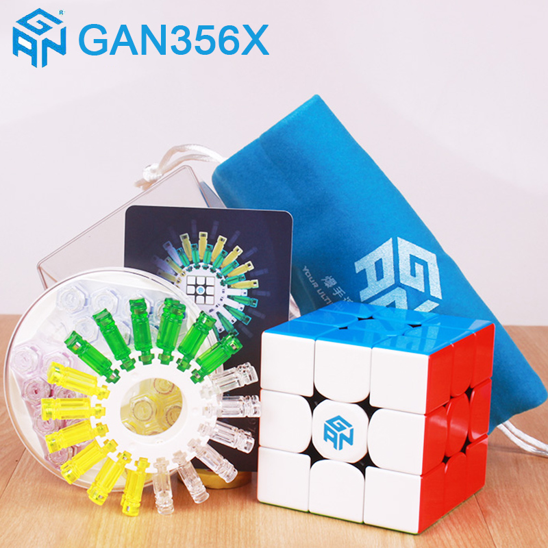 GAN 356 X Magnetic Magic Cubes Profissional Gan 356x Speed Cube Magnets Cube Puzzle Neo Cubo Magico gans 356 X In Stock