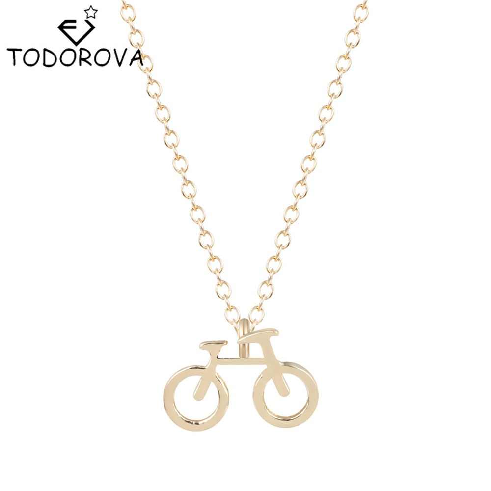 Todorova Jewelry Bicycle Friendship Pendants Vintage Necklaces Bike Mens Chain Necklaces Accessories for Women Christmas Gifts