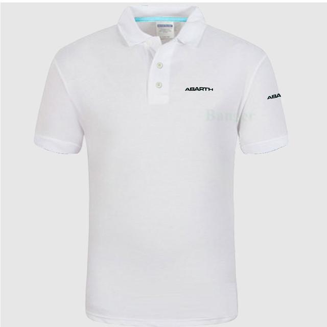 New Men's Polo Shirt abarth logo Women Cotton Short Sleeve shirt clothesPlus Size XXXL