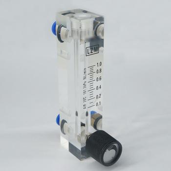 0.1-1LPM LZM-6T panel akrylowy typ rotametr przepływomierz powietrza z zaworem sterującym Push Fit 6mm OD Tube