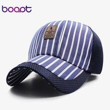 BOAPT lattice stripe travels caps 2017 women hats snapback baseball cap for men female summer casual sun dad hat