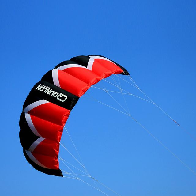 3 M² Quad Línea Cometa Del Truco Parafoil Poder Kiteboarding Kitesurfing Kite Buggy Con 55 cm Barra de Línea de Vuelo de la Cometa