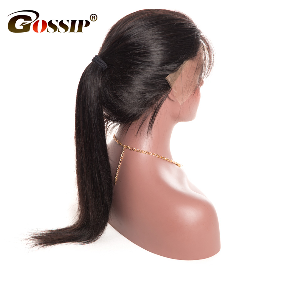 Gossip Lace Front Human Hair Wigs For Black Women Peruvian Hair Straight Wigs With Baby Hair