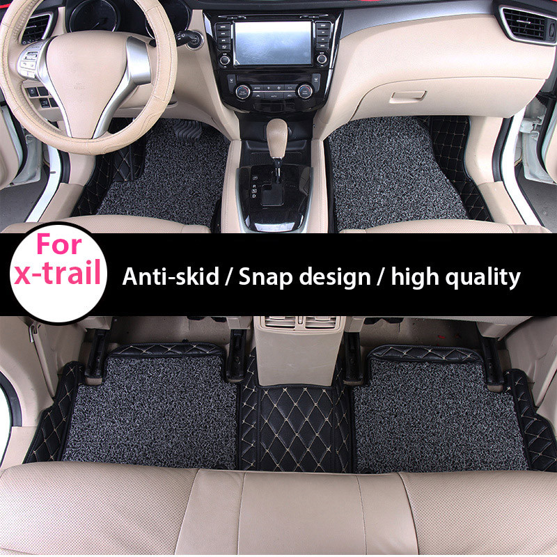 Custom fit car floor mats tail trunk cover mats for x-trail t32 rogue xtrail accessories 2014 2015 2016 car styling special car trunk mats for toyota all models corolla camry rav4 auris prius yalis avensis 2014 accessories car styling auto