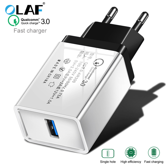 outlet store c6e0b 44b9a US $1.98 8% OFF|OLAF quick charge 3.0 fast usb charger for iphone 7 8 Plus  X QC 3.0 Phone Charger For Xiaomi redmi 6a Mi8 For Huawei mate 20 pro-in ...