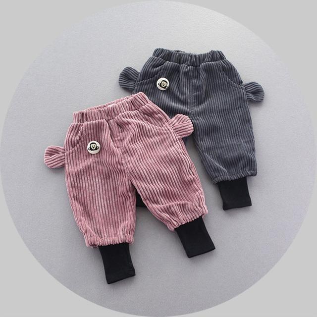 Muchachas de Los bebés Pantalones Niños Ropa de Bebé de Algodón Pantalones Largos Pantalones Harén Niña Muchachas de Los Bebés Ropa orejas animales lindo
