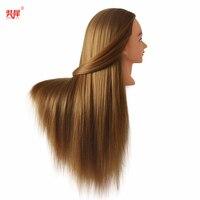 Толстая блонд длинная голова с волосами для тренировки Профессиональный манекен для укладки невесты манекены хороший синтетический манек...
