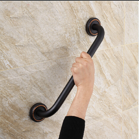 ФОТО New Antique Black Oil Brushed bathroom armrest bathtub armrest handrail Grab Bars Brass Material Hand bar Safety bar