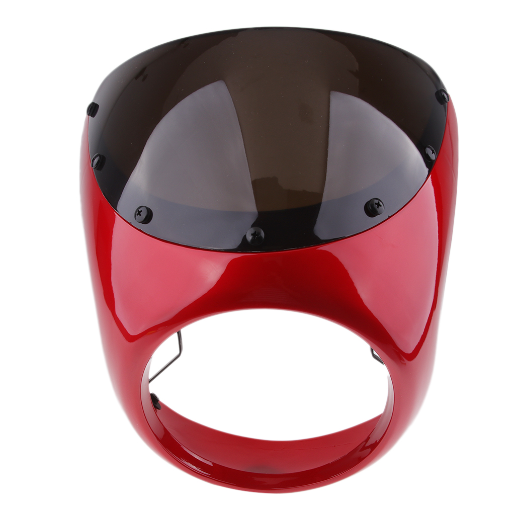 Image 4 - Motorcycle Retro Front Headlight Fairing WindScreen Screen Plastic Universal For Cafe Racer motorcycles headlight WindScreenCovers & Ornamental Mouldings   -