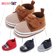 Leisure Time Male Baby Soft Sole of Shoes Magic Subsidies Newborns Toddler Crib First Walkers Skid-Proof