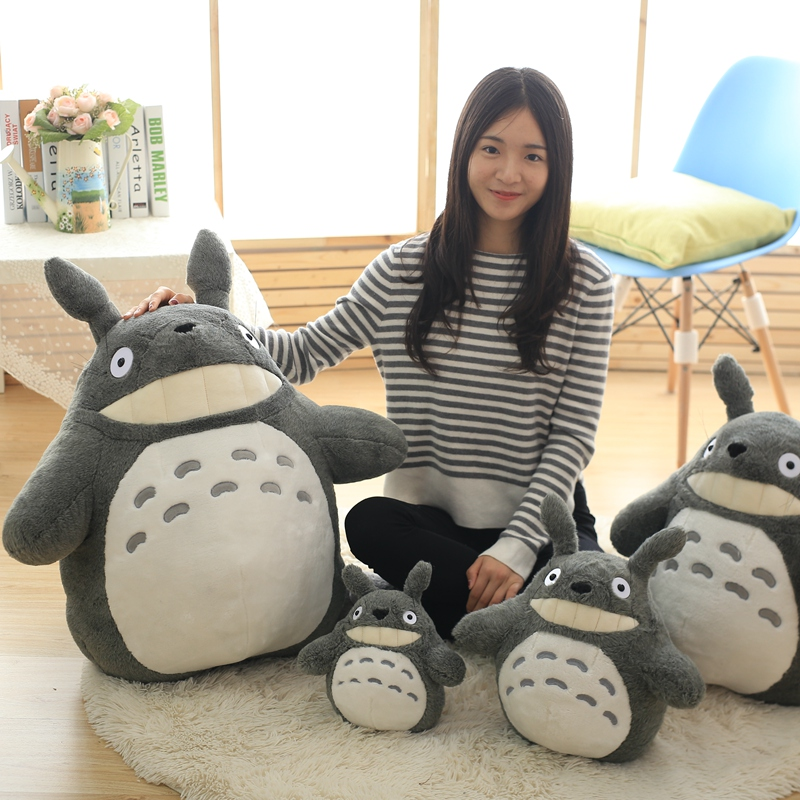 30-55cm Cute wedding press doll children birthday girl Kids Toys Totoro doll Large size pillow Totoro plush toy doll 1pcs 85cm creativity dragoncat dolls plush toys funny expression totoro large doll lovely doll birthday gift girl s favorite