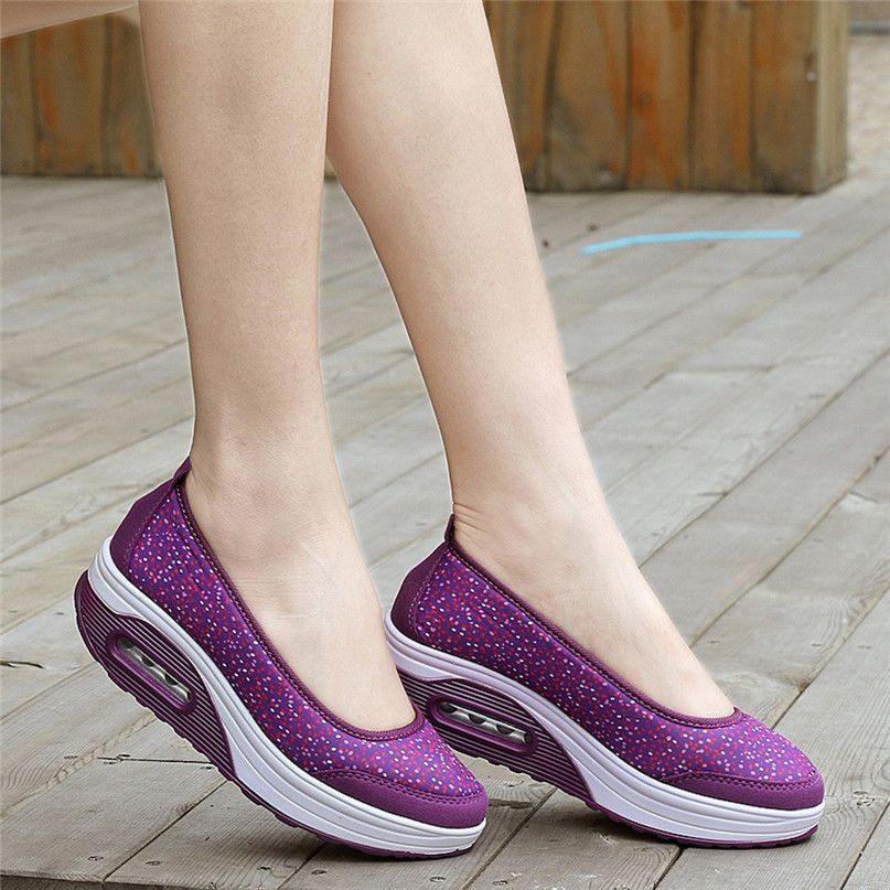 Women Outdoor Sneakers Mesh Casual running shoes Sports Shoes Thick-Soled Air Cushion Shoes Sneakers #2S05 (18)