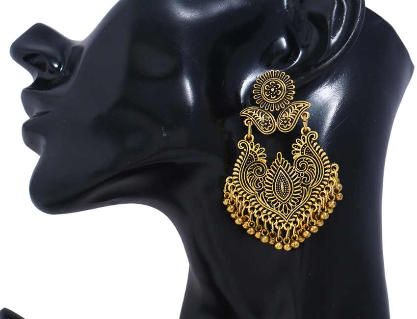 قرط يد أنيق منحوت فريد للسيدات من بنغلاديش مجوهرات إيطالية كلاسيكية من مصر الباكستانية