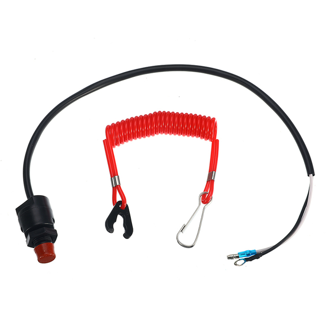 Outboard Cut off Switch Safety Tether Lanyard Boat Motor Emergency Kill Stop Switch For Engine Protect For Yamaha /Tohatsu