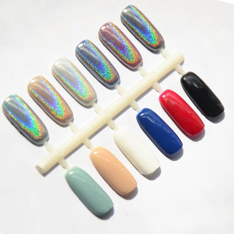 Laser ongles paillettes magique holographique miroir poudre Laser poussière Nail Art Chrome Pigment poudre bricolage décorations