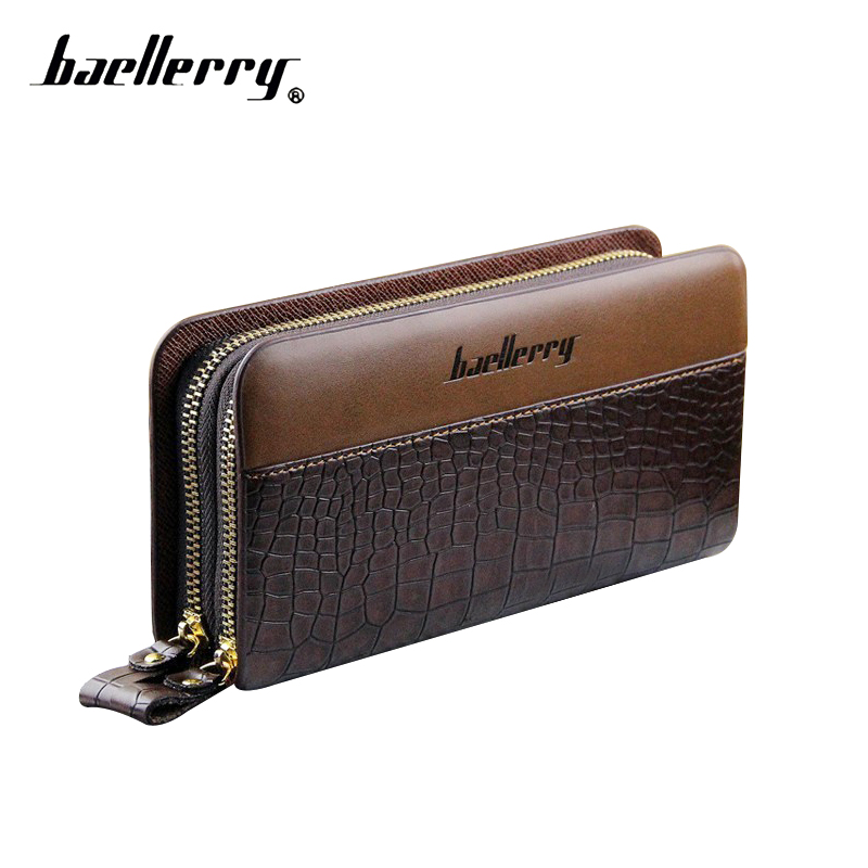 Baellerry Men's Wallet Purse Men Wallets Male Bags Pu Leather Men Clutch Bag Card Holder Zippers Coin Purse Wristlet Clutch Male baellerry man wallets portefeuille homme card holder coin pocket cuzdan rfid male cuzdan purse clutch short purse with 6 styles