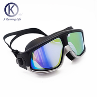 Top quality Swimming Goggles big Swim Mask women & men swimming glasses pool accessory Less presure to eyes HD mirror