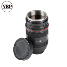 YRP Creative Emulation Camera Lens Telescopic Mug Stainless Steel Tumbler Plastic Coffee Cup With Thermos For Car Travel