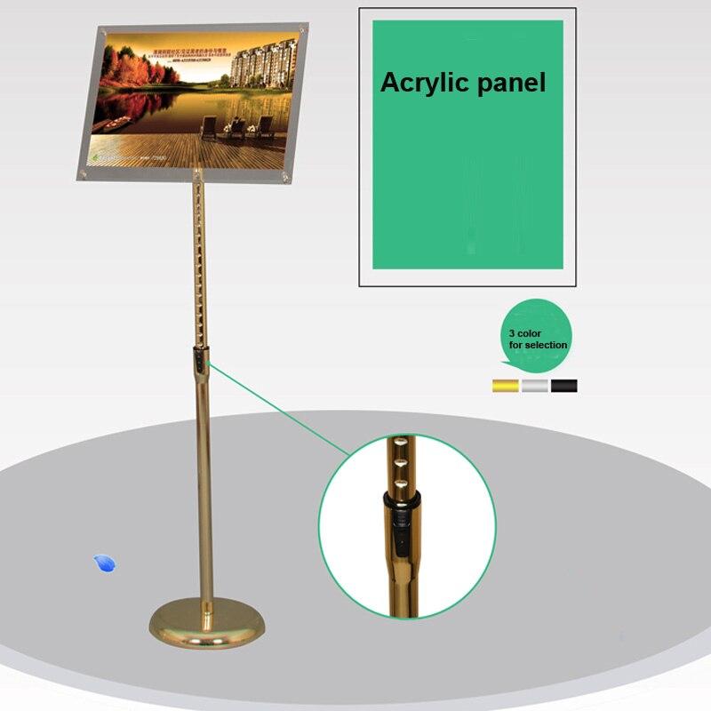 Floor Standing Adjustable Metal Menu Sign & Poster Holder Display ...